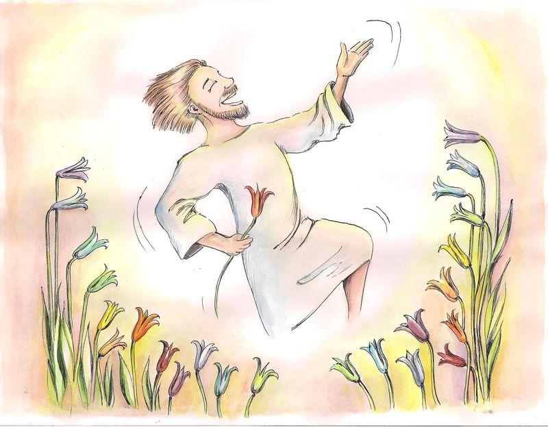 Jesus among the lilies