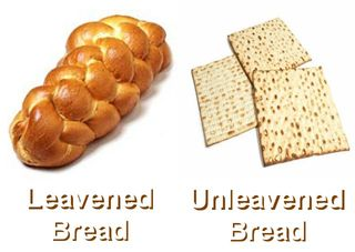 Leaven vs unleavened bread